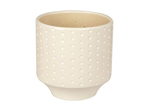 Present Time Pt Living Vaso Dots, Ceramica, Bianco