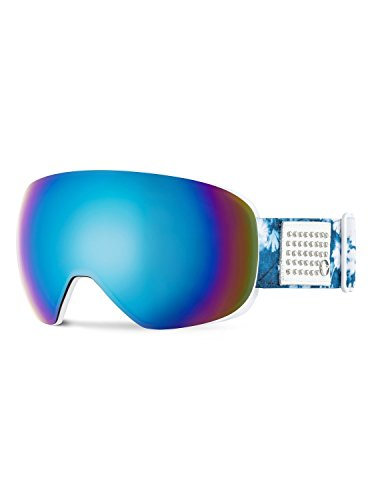 Roxy Popscreen Women's Snow Racing Snowmobile Goggles Eyewear - Clematis Blue/Amber Rose ML Turquesa/One Size