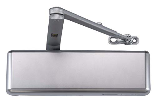 Extra Heavy Duty Commercial Door Closer -INOX DC9016-ALUM (US26D Aluminum)- Surface Mounted, Grade 1, Cast Iron, UL 3 Hour Fire Rated & ADA for High & Extreme Traffic doorways/storefronts/entrances