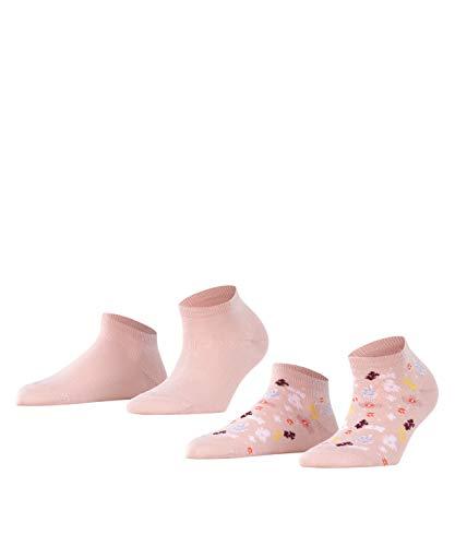 ESPRIT Damen Summer Flower 2-Pack W SN Socken, Rosa (Mistyrose 8667), 39-42 (UK 5.5-8 Ι US 8-10.5) (2er Pack)