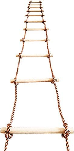 ISOP Tree Climbing Rope Ladder for Kids 16ft 5m or Adults Outdoor Indoor Swing Set Accessories product image
