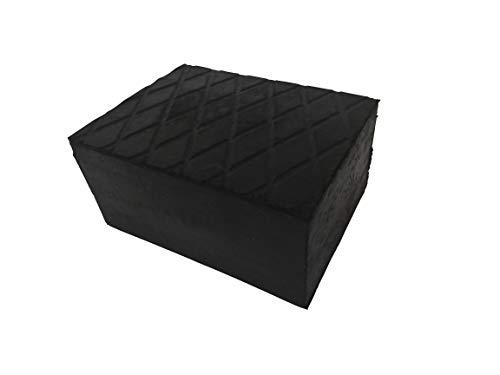 Kora 77 rubberen blok 160 x 120 x 60 mm, zwart