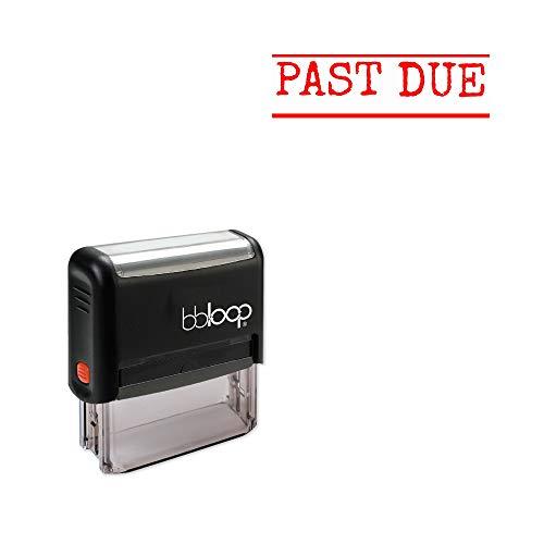 'Past Due' Self-Inking Office Stamp, Rectangular Typewriter Style