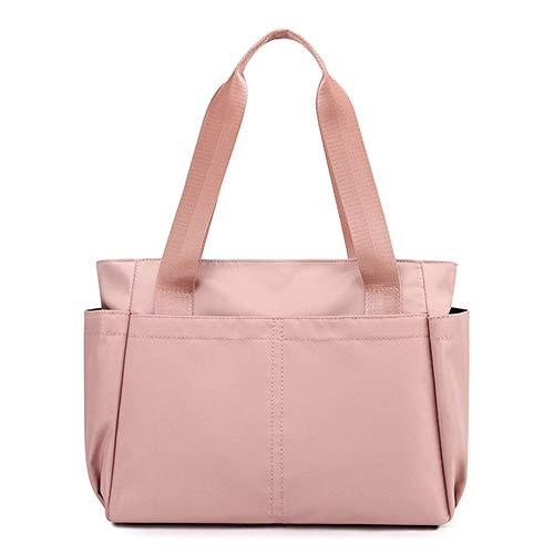 Bolso de la moda grande bolso de compras bolso casual ligero bolso de hombro para las mujeres de viaje, rosa (Rosa/Rebel Fun.), Large