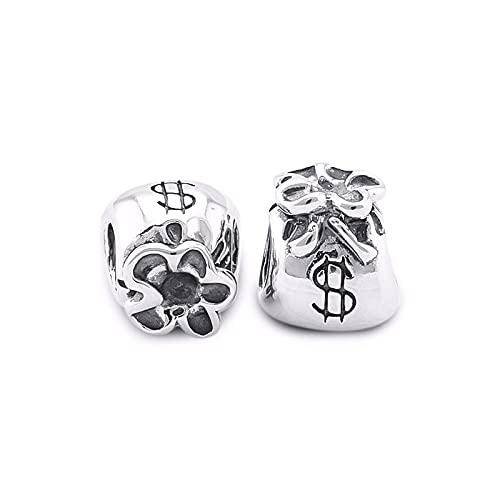 LILANG Pulsera de joyería Pandora 925, Ajuste Natural para Bolsas de Dinero, Abalorios de Plata esterlina para Mujeres, Regalos de Bricolaje