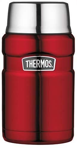 THERMOS Thermobehälter für Essen groß Lunchpot Stainless King, Thermogefäß Edelstahl rot 710ml, Speisegefäß für Essen, Suppen, Müsli, 4001.248.071, dicht, 14 Stunden heiß, 24 Stunden kalt