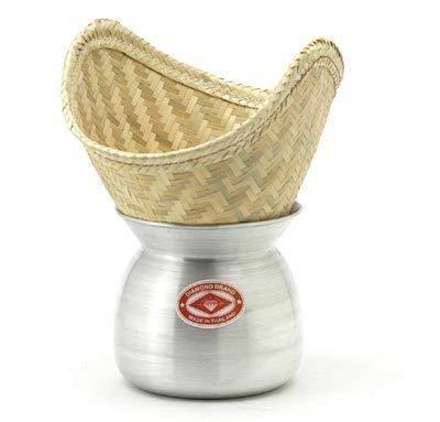 Diamond Reisdämpfer - Laos Pot und Bambuskorb zum Dampfgaren von Reis