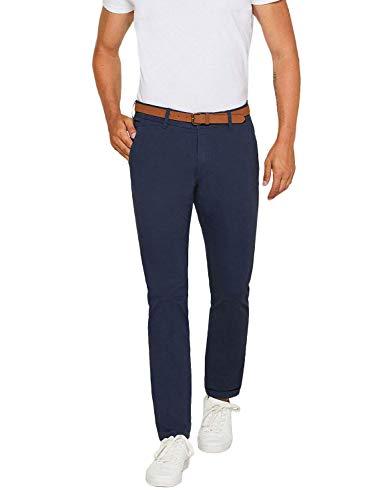 ESPRIT Herren Essential Chino Hose, 430/BLUE, 31W / 34L