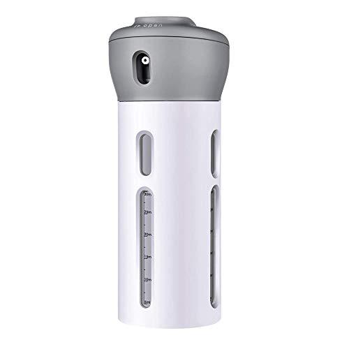 4-in-1 Lotion Shampoo Gel Reisespender Duschbad Shampoo Aufbewahrungsflasche Für die Aufbewahrung auf Reisen (grau)