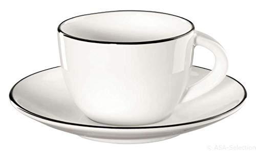 ASA à table ligne noir Espressotasse mit Untertasse 0,07 l weiß, 1930113