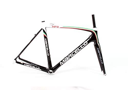 marcello HP3 Carbon Rennrad-Rahmen | leichtes Rahmenset | UCI Zertifiziert | Perfekt zum Einsatz im Rad-Rennen (Italia, 59)