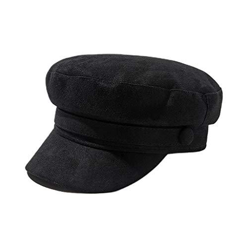 Planuuik Britse stijl retro suède baskenmuts pet vrouwen meisjes klassieke ronde platte top Cabbie jongen schilder vizier Peaked Beanie Navy Hat