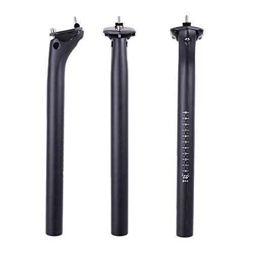 ELITA ONE Vollcarbon Fahrrad Sattelstütze, neues Update MTB Ersatz Rennrad Carbon Leichte Einstellbare Fahrrad Sattelstütze 27.2 30.9 31.6 350mm 400mm (UD Matt-schwarz, 27.2x350mm)