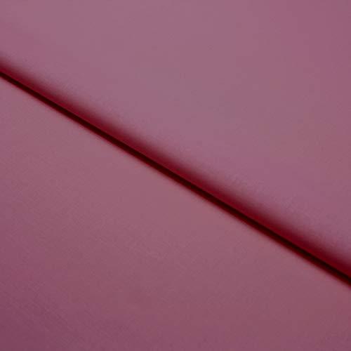 Hans-Textil-Shop Stoff Meterware Baumwolle Linon - Einfarbig, Uni, Schadstoffgeprüfter Stoff, Pflegeleicht, 1 Meter (Mauve)