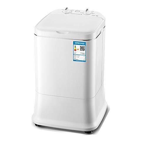 lavadora Mini MáQuina PortáTil BañEra Lavado, Secador Rotatorio DoméStica Solo Barril Semi-AutomáTica, Capacidad De Lavado: 3 Kg (Blanco)