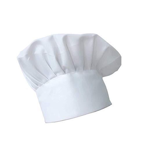 Kochmütze, verstellbar, elastisch, rutschfest, für Küche, Kochen, Kopfbedeckung (weiß)