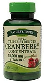Nature's Truth Ultra Triple Strength Cranberry Concentrate 15,000mg Plus Vitamin C, 90 ea - 2pc