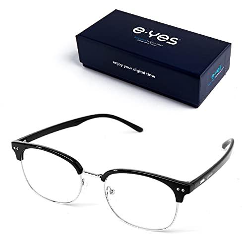 occhiali riposanti e-yes Occhiali Luce Blu | Occhiali Da Lettura Con Filtro Per Computer | Strobe Glasses Uomo Donna | Gaming Accessori Riposanti Anti Luce Blu Donna Uomo Bambino Bambina | Cura Della Vista
