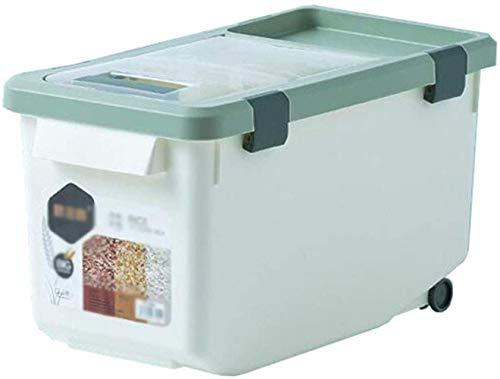 Mooie Rice Box Keuken Sealed rijst emmer vochtbestendig rijstbewaardoos huishouden plastic cirkel cilinder insect-proof meel opslag emmer in feite