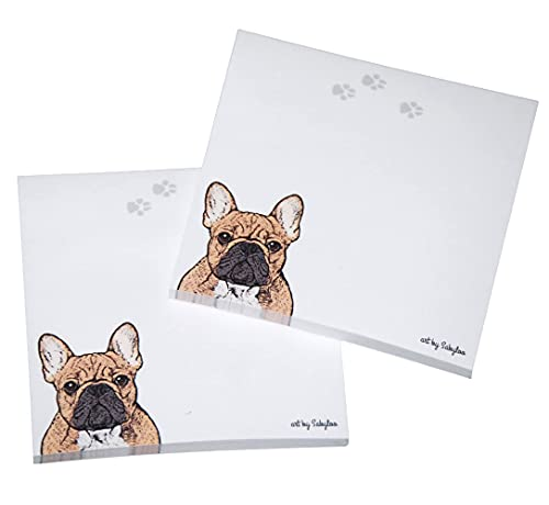 French Bulldog Sticky Notes Notepad - Fawn - 100 Sheets