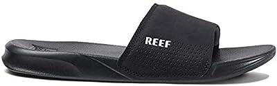 Reef One Slides for Men - Comfortable Mens Slides Sandals, Black, 7