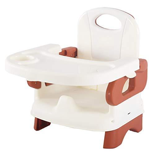 YULAN Silla de Comedor para bebés Comedor Silla para niños Mesa de bebé Taburete Plegable Multifuncional para Silla de Asiento portátil (Color : Brown)