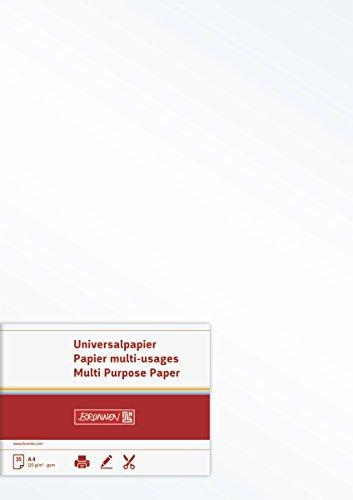 BRUNNEN 105123507 Multifunktions-Papier Universalpapier (matt, A4, 120 g/qm, 35 Blatt) perlweiß
