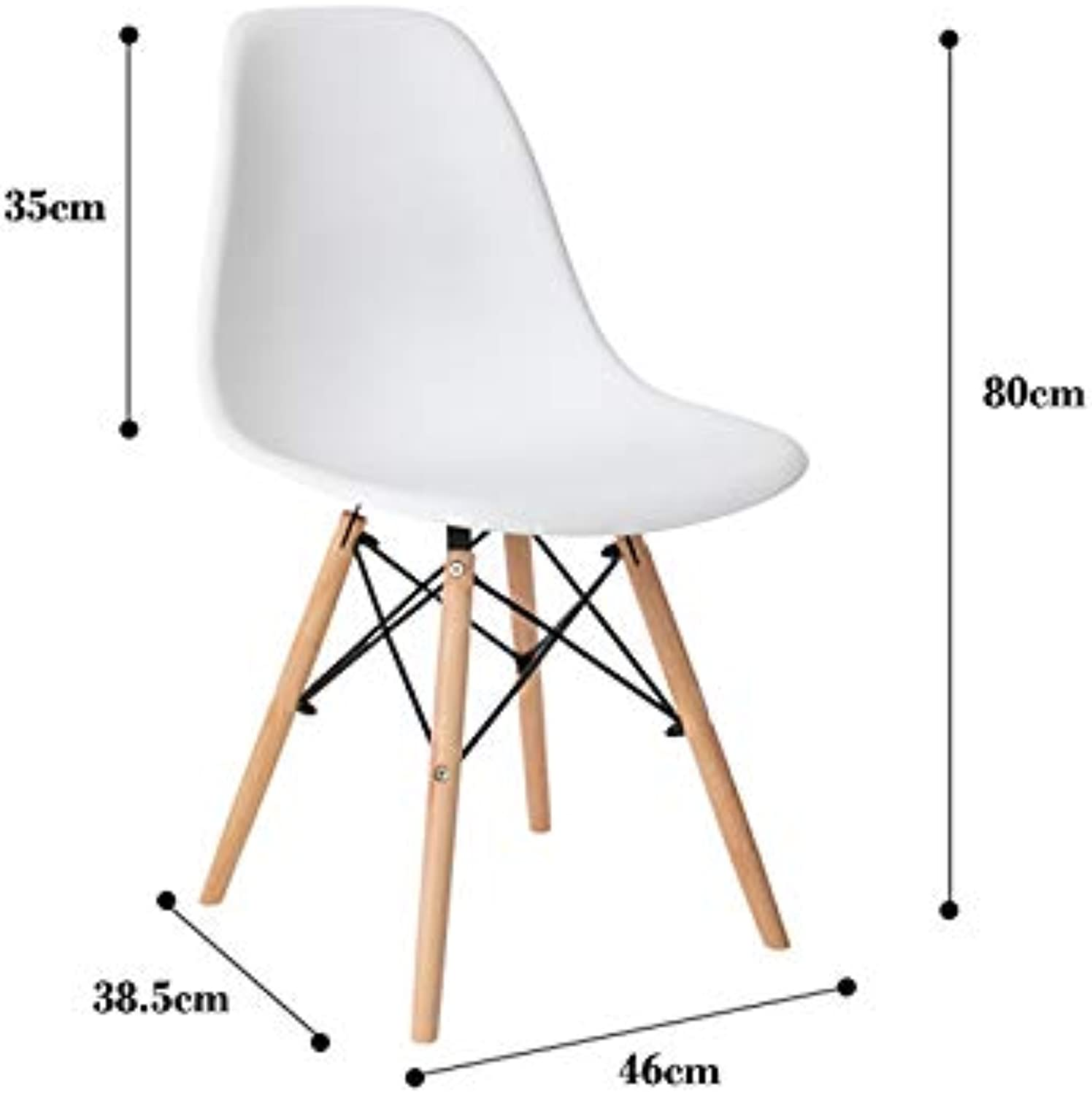 Makeup Chair Dressing Modern Minimalist Plastic Dining Chair Lazy Backrest Chair Change shoes Bench (color   White)