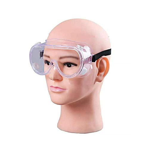 Generic Deluxe Polycarbonate Safety Goggles, Light Weight, Chemical Resistant, Anti-Fogging Goggles, With Universal Fitting
