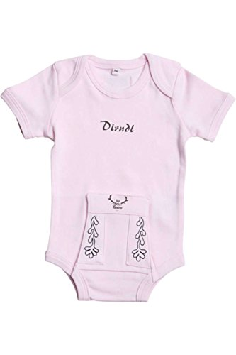 Tu Felix Austria Baby - Mädchen Babystrampler rosa 'Dirndl', rosa, 3-6 Monate