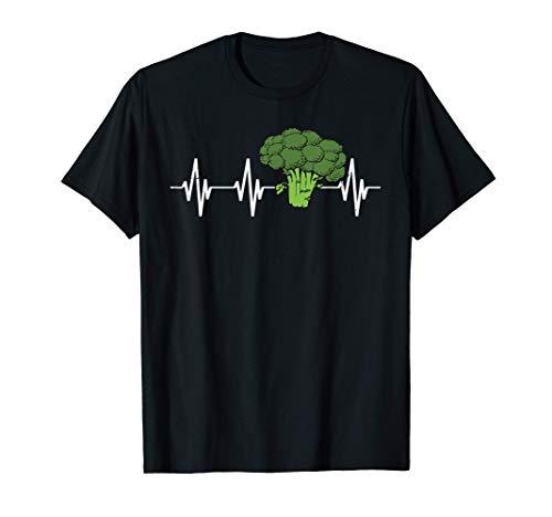 Broccoli battito cardiaco verdure vegetariano frequenza Maglietta