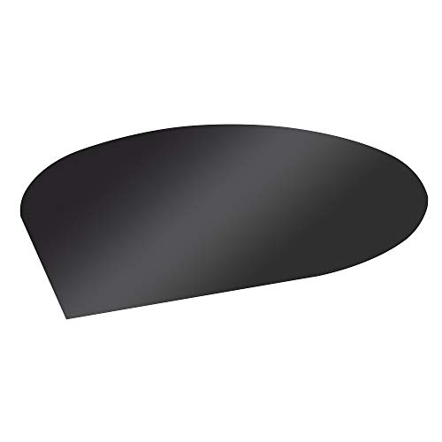 FIREFIX 1556/6 Stahlbodenplatte (Hitzeschutz Ofen), Tropfenform-Bodenplatte (1.100 x 1.100 x 550 mm), 2 mm Starkes Stahlblech, Lackierung Senotherm UHT-Hydro-schwarz
