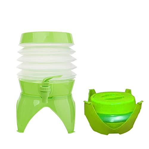Gidenfly Cubo de agua plegable, 5.5 l plegable y portátil, con tanque de agua de grifo para acampar, senderismo, pesca, escalada, picnic, barbacoa, viajes, uso al aire libre, verde/azul/rojo