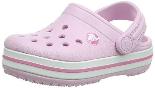 crocs Unisex-Kinder Crocband K Clogs, Ballerina Pink, 25/26 EU