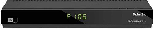 TechniSat TECHNISTAR S2+ / HD Sat-Receiver inklusive HD+ Karte (freigeschaltet für 6 Monate, LAN-Schnittstelle, UPnP-Livestreaming, PVR-Aufnahmefunktion) schwarz