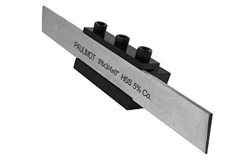 PAULIMOT Abstechstahl-Halter, Schaft 12 mm + HSS-Messer (5% Kobalt)