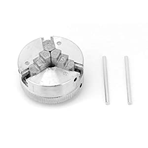 Torno Chuck-Z011 Piezas de Torno de Accesorio de portabrocas de Tres mordazas de aleación de Zinc para Mini Torno de Metal