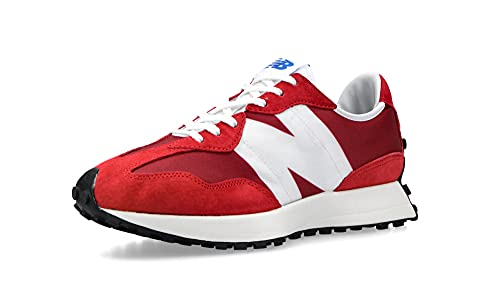 New Balance MS327 - Zapatillas deportivas para hombre, rojo / blanco, 46.5 EU