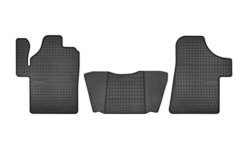 Frogum D0092 Gummifußmaten, solide, oryginal Passform Mercedes-Benz Vito Viano 1997-2006 angepasst – Schwarz