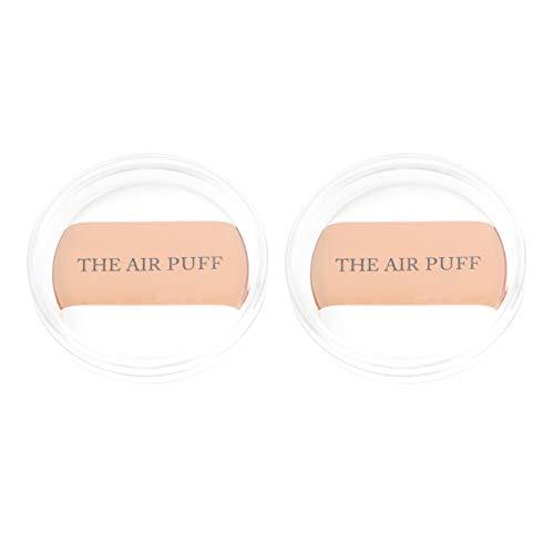 Milisten 2Pcs Maquillage Visage Poudre Bouffées Éponges Cosmétiques Outil avec Étui de Rangement pour Fille Femmes