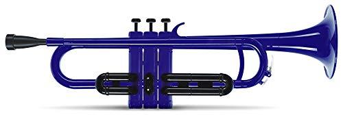 Classic Cantabile MardiBrass ABS Kunststoff Trompete - Perinet-Ventile - 510g leicht - Bohrung: 11,6 mm - inkl. Mundstück und Leichtkoffer - blau
