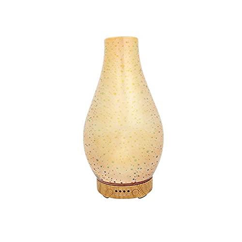 Difusor De Aceites Esenciales Lámpara De Aroma 3D Otoño Invierno Humidificador De Vidrio Ayudante Del Sueño 7 Colores Temporización Dormitorio Del Bebé Escritorio Decoración Navideña Iluminació