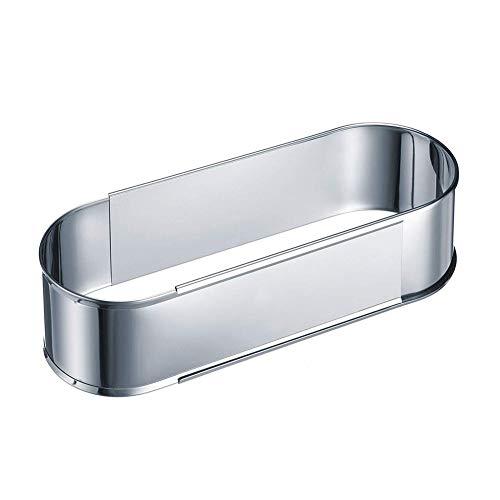 Yehapp Cake Ring Ajustable - Anillo de pastel ovalado con diámetro ajustable de 27 a 40 cm, molde de hornear extensible de acero inoxidable