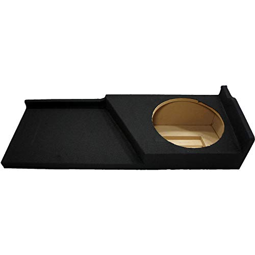 """Compatible with Chevy Silverado or GMC Sierra Full Size Extended Cab Truck 2007-2013 Single 12"""" Subwoofer Sub Box Speaker Enclosure"""
