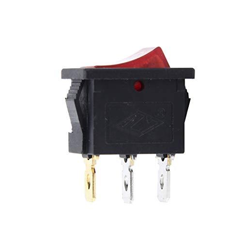 1 pcs Pulsante per Auto Universale Interruttore Elettrico ON-OFF a 3 Pin Multifunzione Ideale per Attrezzatura Componenti Elettronici Fai da te e Riparazioni Auto Moto