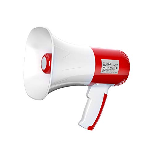 ASDZ Megáfono Profesional,Bullhorn,Megáfono portátil bocina de Sirena,Megáfono con Altavoz Potente,Megáfono Profesional dinámico,Unisex...