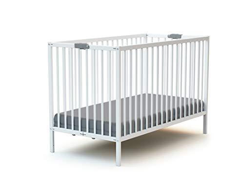 Lit bébé pliant 60x120 WEBABY Blanc