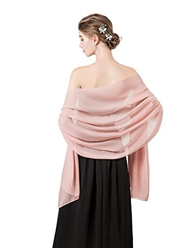 Soft Chiffon Scarve Shawls Wraps for Dresses Women Accessories Blush