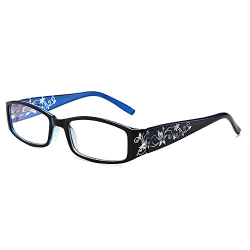 Occhiali da lettura ultraleggeri anti luce blu con primavera Cerniere (blu, 1.0)