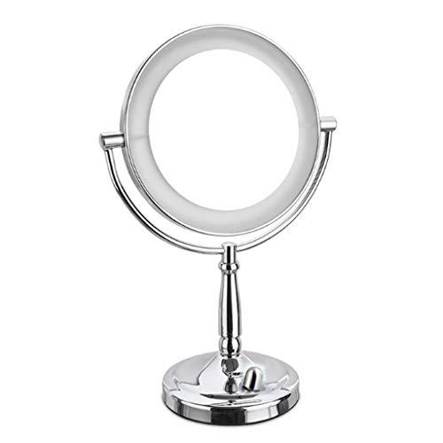 SHYPT Mural Miroir de Maquillage, Miroir de Maquillage Compact, Bouton Dimming Switch, Peut Tirer avec précision Sourcils, 360 degrés Cadre Rotatif